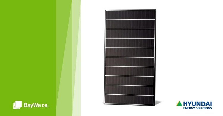 Pannelli solari Hyundai distribuiti in Italia da BayWa r.e.