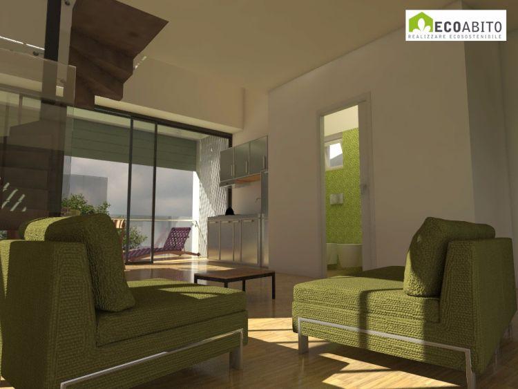Interno Ecoabito Houses, primo progetto vincitore del Concorso di Idee Viessmann 2019