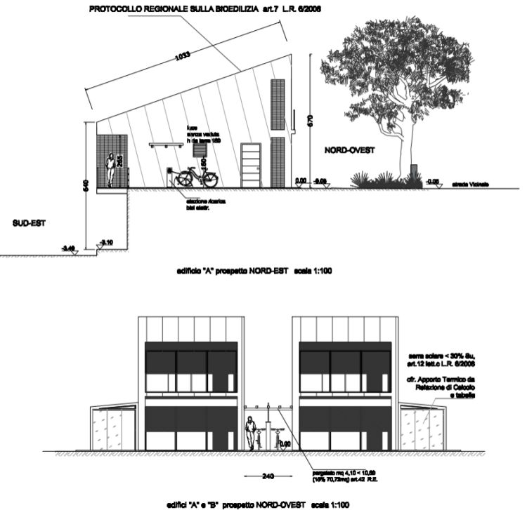 Prospetti Ecoabito Houses, primo progetto vincitore del Concorso di Idee Viessmann 2019