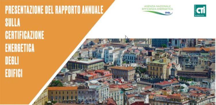 Presentato il Rapporto Enea sulla certificazione energetica degli edifici
