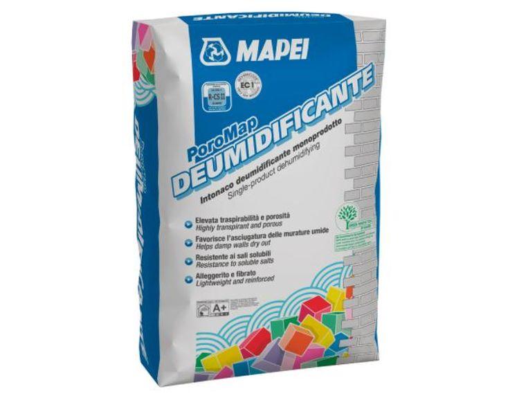 Intonaco monoprodotto e monostrato PoroMap DEUMIDIFICANTE di Mapei per risanare le murature degradate