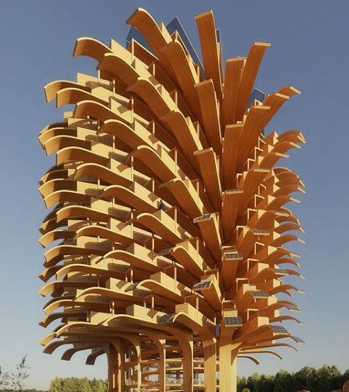 Solar tree: la torre di osservazione sostenibile fatta di foglie solari