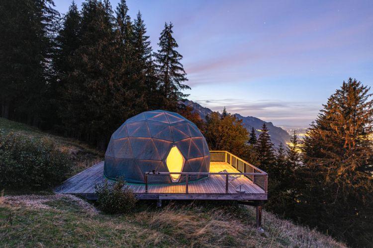 Whitepod eco-luxury hotel, Svizzera