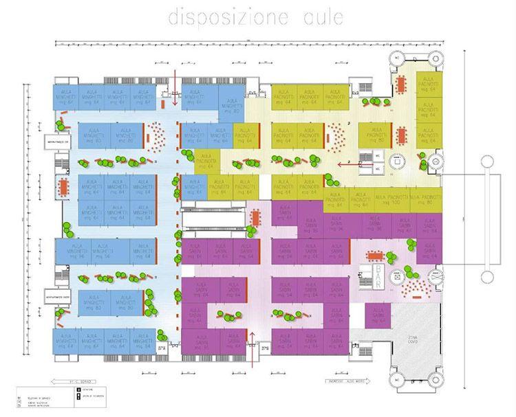 Mappa della scuola in fiera a Bologna, progetto di Mario Cucinella