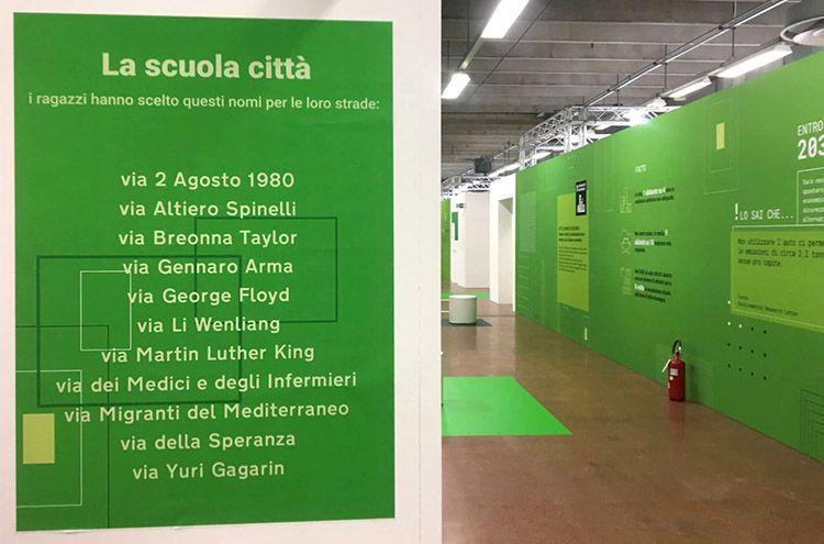 Scuola in fiera a bologna, progetto di Mario Cucinella. I nomi delle vie