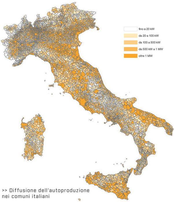 Legambiente: diffusione dell'autoproduzione nei comuni italiani