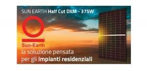 Moduli Sun Earth Half-Cut: la soluzione pensata per gli impianti residenziali