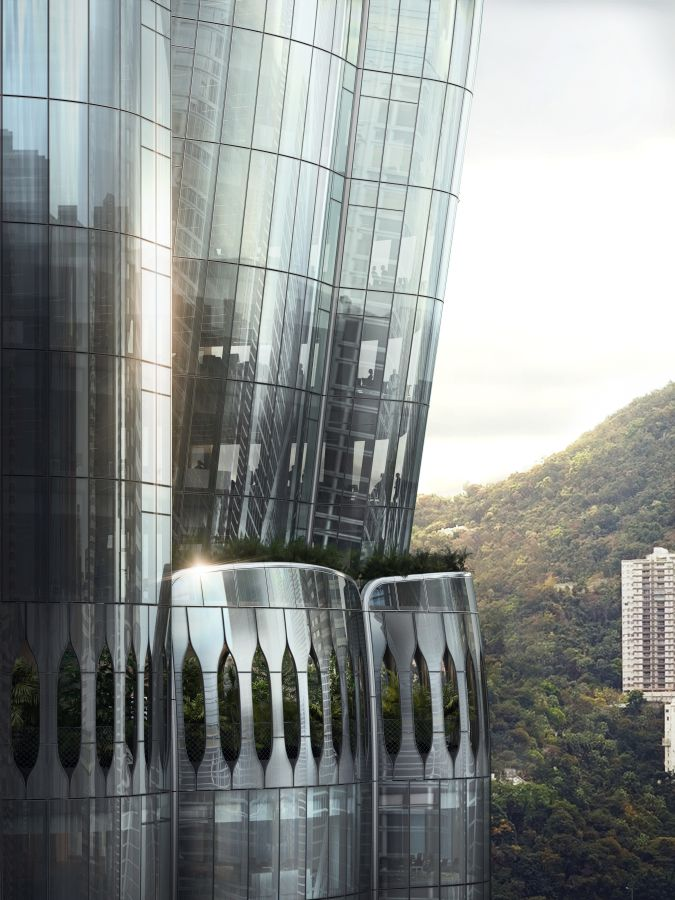 Le vetrate curve della Murray Road (render Mir; credits Zaha Hadid Architects)