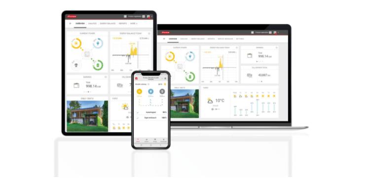 Con l'app Solar.web, i clienti finali tengono in mano la loro centrale solare