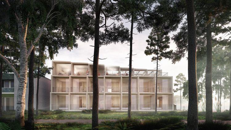 L'ala nuova dell'Hotel Green Solution House a Rønne in Danimarca