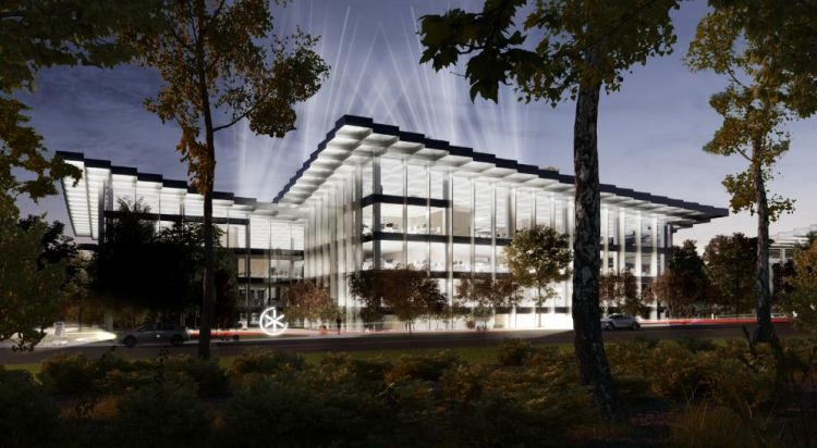 Il tetto verde di AI City di notte si trasforma nel più grande display digitale dellaCina