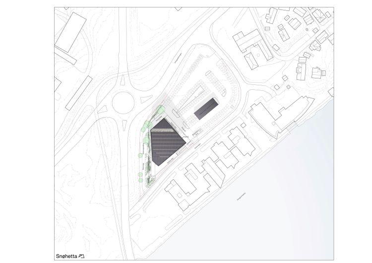 Planimetria del complesso Powerhouse Telemark in Norvegia