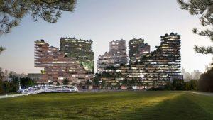 Amsterdam, un alloggio biofilo con facciata in legno parametrica
