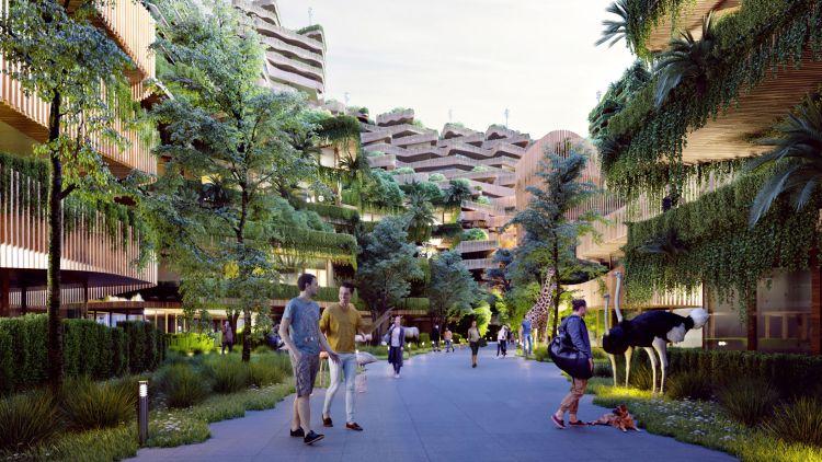 Mitosis, un complesso residenziale biofilo ad Amsterdam che crea una comunità sana e sostenibile