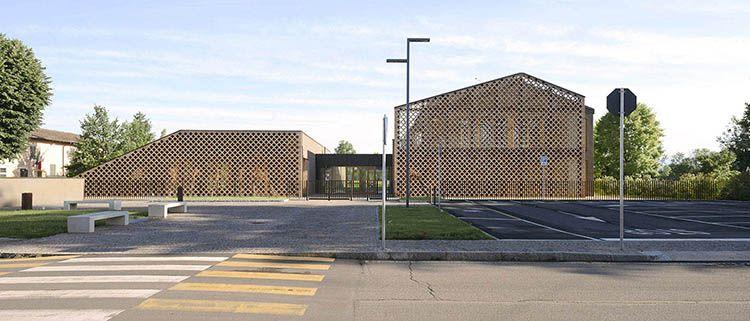 Ingresso scuola La scuola di Castel Cerreto