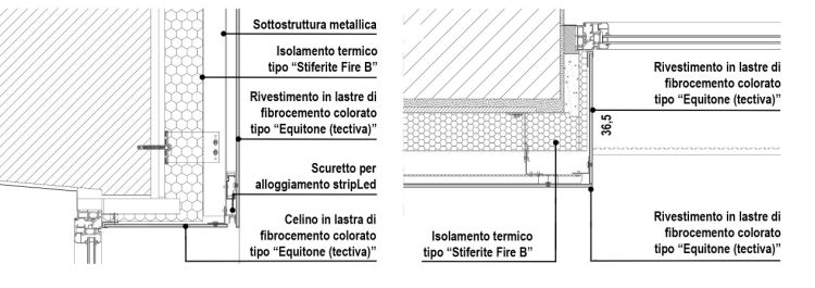 Il pacchetto di facciata della nuova sede dell'ASM di Vercelli