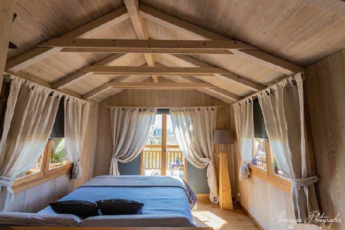 Casa sull'albero Relais Tenuta il Cigno Treehouse, la camera da letto