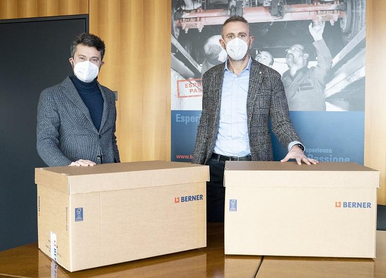 Berner dona 10.000 mascherine FFP2 all'azienda ospedaliera di Verona