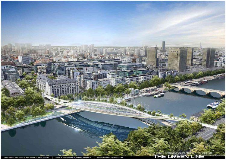 The Green Line: la passerella verde che produce cibo e unisce Parigi
