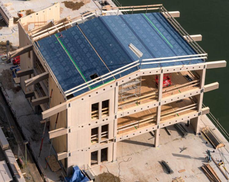 Floating Office Rotterdam: edificio galleggiante realizzato in legno