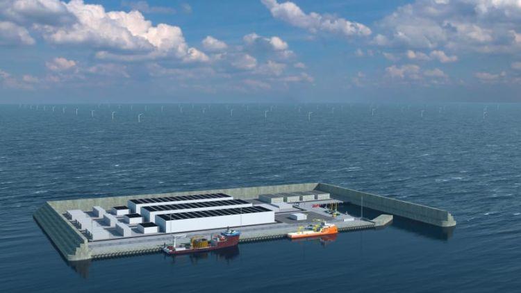 In Danimarca L'isola artificiale collegata alle turbine eoliche