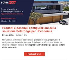 Webinar: I prodotti e le configurazioni SolarEdge per l'Ecobonus 4