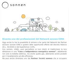 Unisciti al Network sonnen EINS e scopri le opportunità Superbonus 110% 13