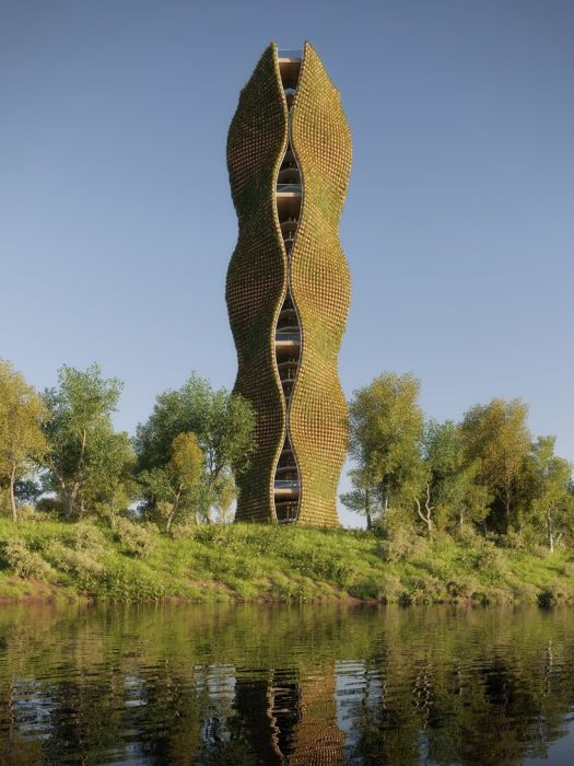 People's Tower: la torre di osservazione ricoperta da 11 mila piante