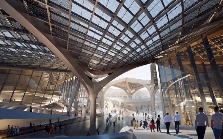 Zhuhai Jinwan Civic Art Centre: la copertura ispirata la volo degli uccelli
