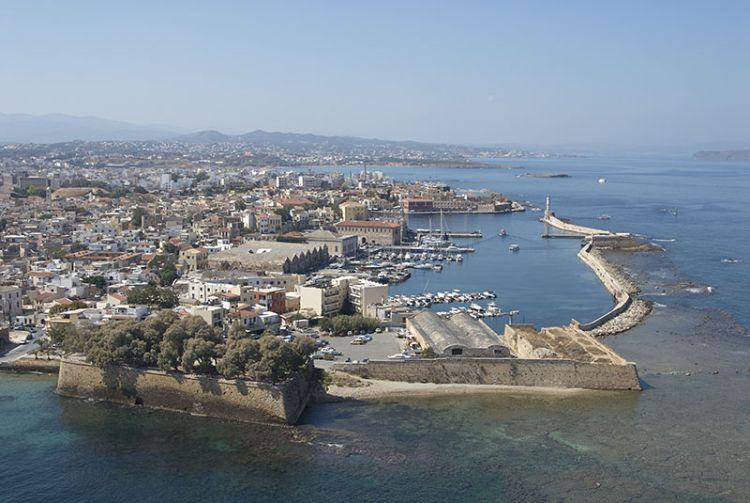 Chania sull'isola di Creta