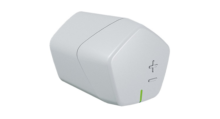 Comando elettronico wireless per valvole radiatore Caleffi Code® serie 215