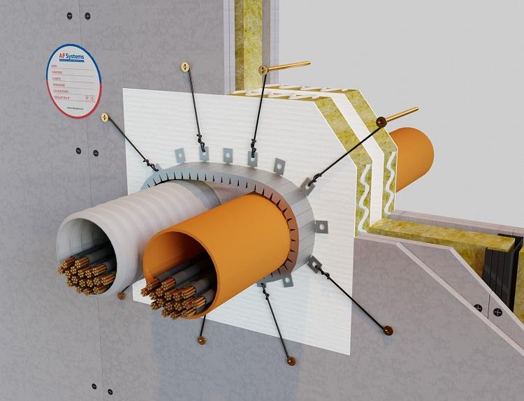 Collare antifuoco per attraversamenti di impianti AF Multicollar