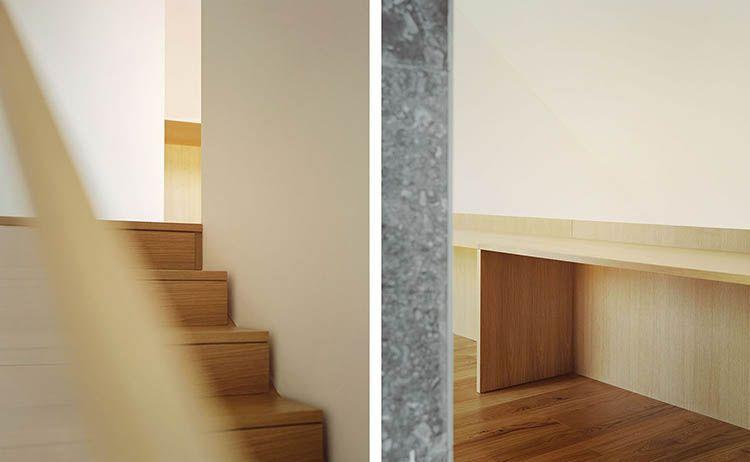 Casa 4 a Magnago, interno in legno e pietra