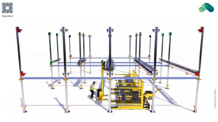 Esempio di produzione industrializzata di componenti edilizi
