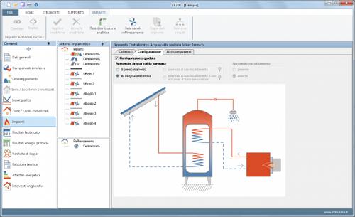 Edilclima - Software EC712per la valutazione dell'energia prodotta da sistemi solari termici