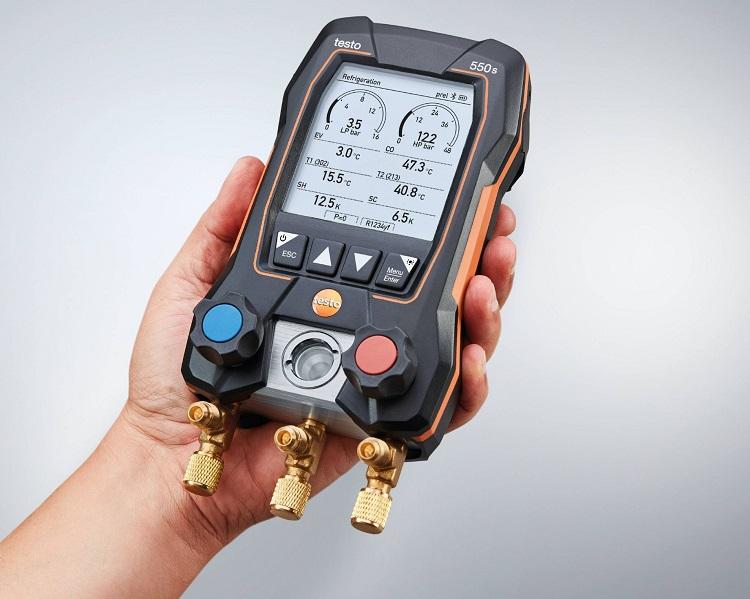 testo 550s: manifold digitale smart con blocco valvole a 2 vie