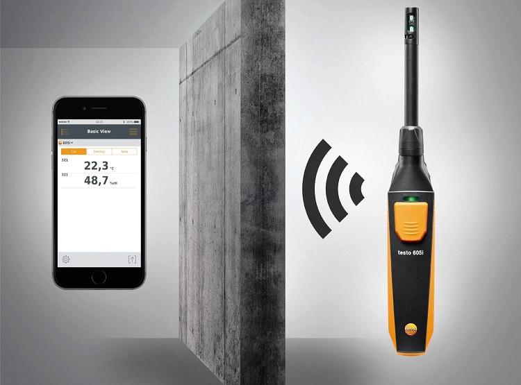testo 605i: termoigrometro per la misura dell'umidità e della temperatura dell'aria