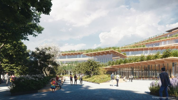 Ufficio biofilico del futuro, cantiere di Welcome, feeling at work