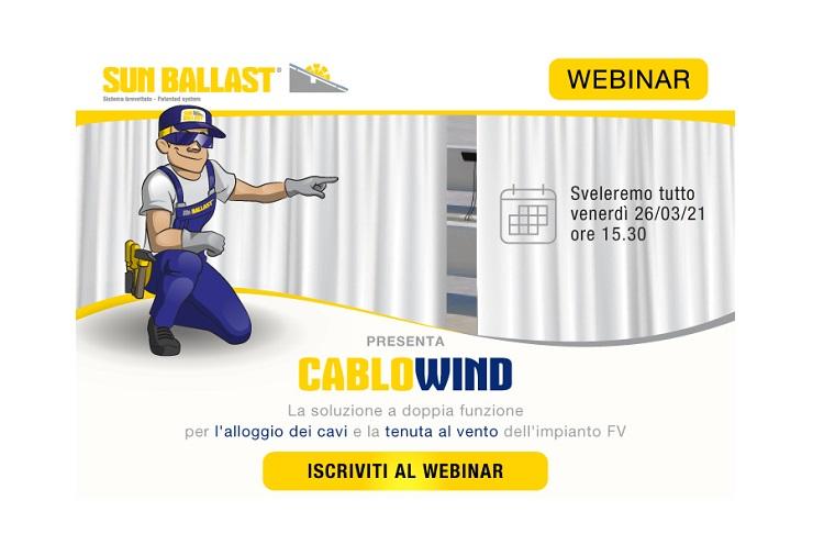 CABLOWIND: maggiore tenuta al vento con il nuovo brevetto Sun Ballast!