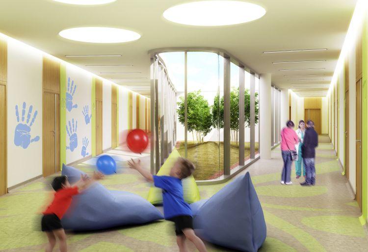Verde e aree relax nel nuovo ospedale neuropsichiatrico infantile della Fondazione Stella Maris a Pisa
