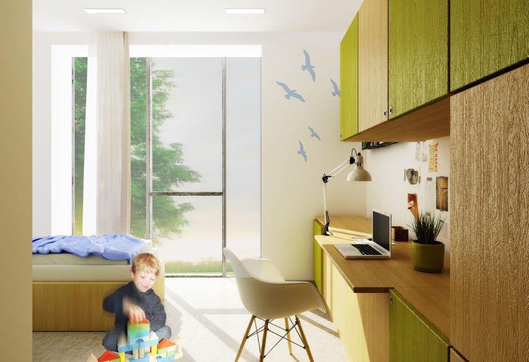 Una delle camere del nuovo ospedale neuropsichiatrico infantile della Fondazione Stella Maris a Pisa