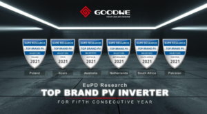 EuPD Top Brand Award in sei paesi per GoodWe