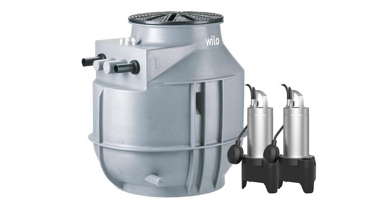 DrainLift WS 40E basic/mini3 V04/T06-540: stazione di sollevamento per acque grigie, nere e meteoriche