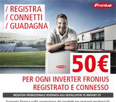 Come ottenere 50€ per ogni impianto con Fronius 18
