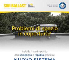 Poco spazio in copertura? Prova il Connect 5° Vela Sun Ballast 5
