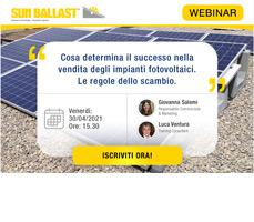 Scopri il segreto nella vendita degli impianti FV con il Webinar Sun Ballast 5