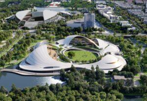 Jiaxing Civic Center: tre strutture sotto un unico tetto
