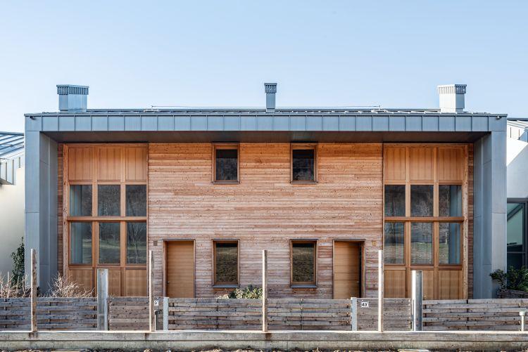 Parco dei gelsi: bioarchitettura con tanto legno