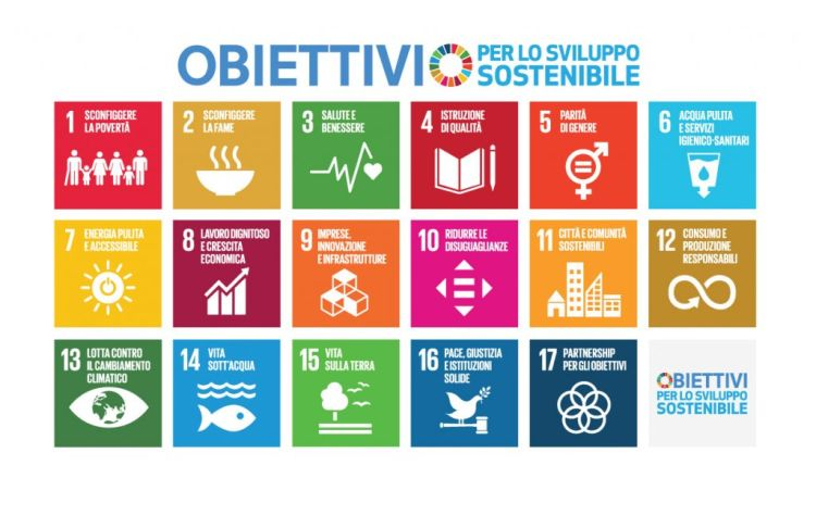 I 17 goals dell'Agenda 2030 per lo Sviluppo Sostenibile
