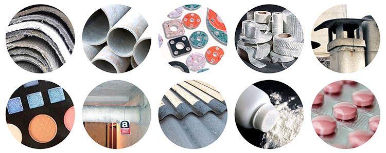 In passato l'amianto era usato in ogni settore produttivo